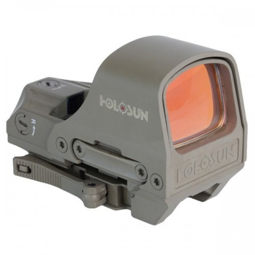 Holosun - Kolimator Open Reflex HS510C Multi Reticle - Solar Panel - Flat Dark Earth Cena 1669,00 zł