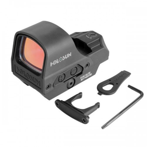 Holosun - Kolimator Open Reflex HE510C-GR Elite Multi Reticle Green Dot - Solar Panel